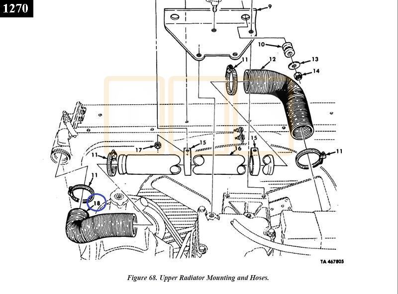 Radiator Hose Upper Left - NOS