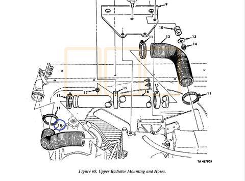 Radiator Hose Upper Left