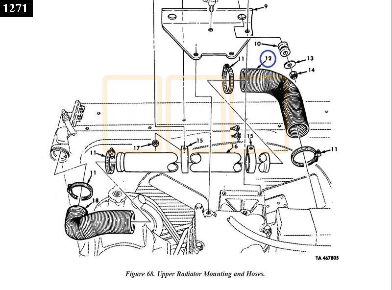Radiator Hose Upper Right - New Replacement