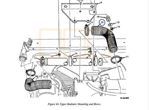 Radiator Hose Upper Right