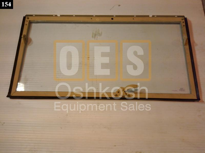 windshield frame with glass left oshkosh equipment