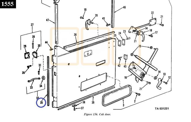 Door Hinge area rubber seal - New Replacement