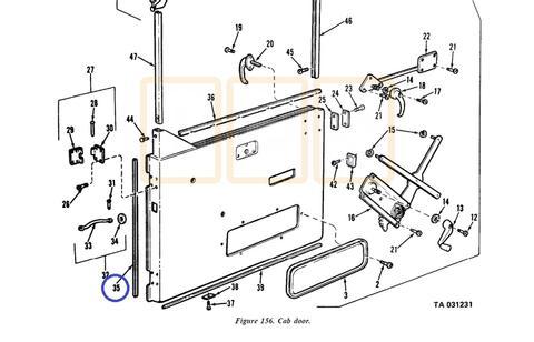 Door Hinge area rubber seal