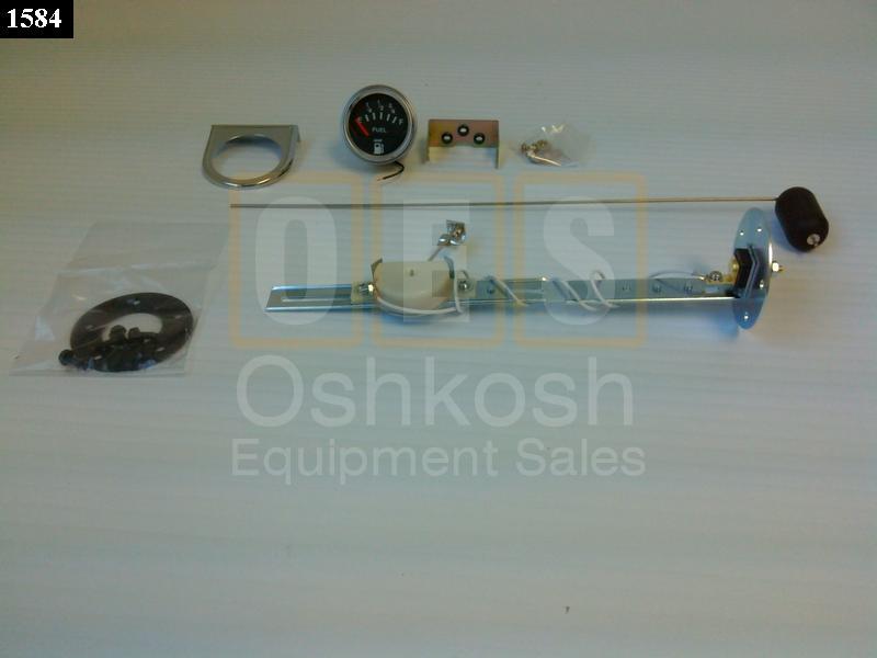 24V Fuel Level Sending Unit W/ Gauge - New Replacement