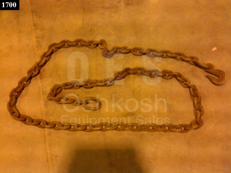 15 Foot Logging / Winching / Towing Chain (5/8 inch Link) - Used Serviceable