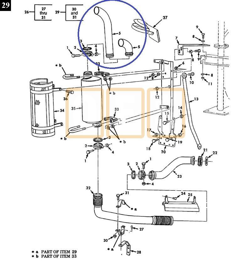 Exhaust Stack Short (Dump/Tractor) - New Replacement