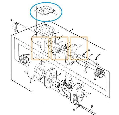 Dump Hoist Hydraulic Pump Mounting Gasket