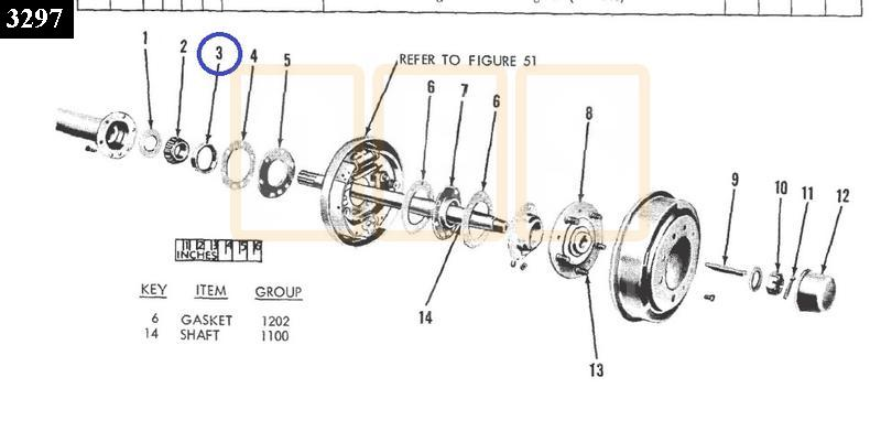 Rear Wheel Bearing Race - New Replacement