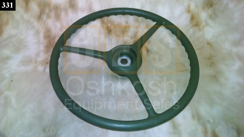 Steering Wheel for Military Vehicles (Green) - New Replacement