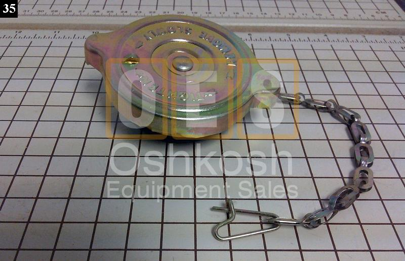Radiator Cap with chain Lanyard - New Replacement