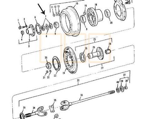 axle parts - oshkosh equipment 95 gmc drivetrain diagram forklift drivetrain diagram #12