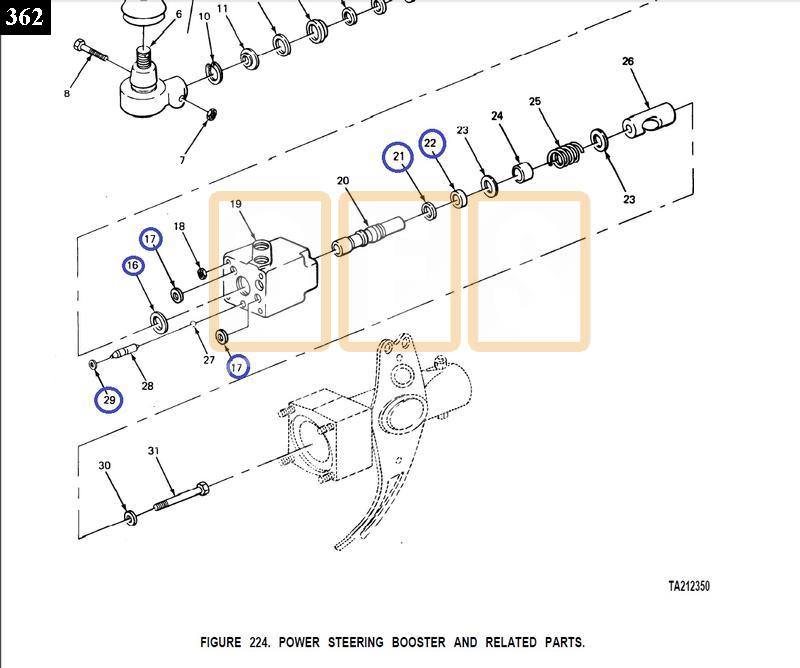 POWER STEERING CYLINDER VALVE SEAL KIT (Small) - New Replacement
