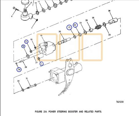 POWER STEERING CYLINDER VALVE SEAL KIT (Small)