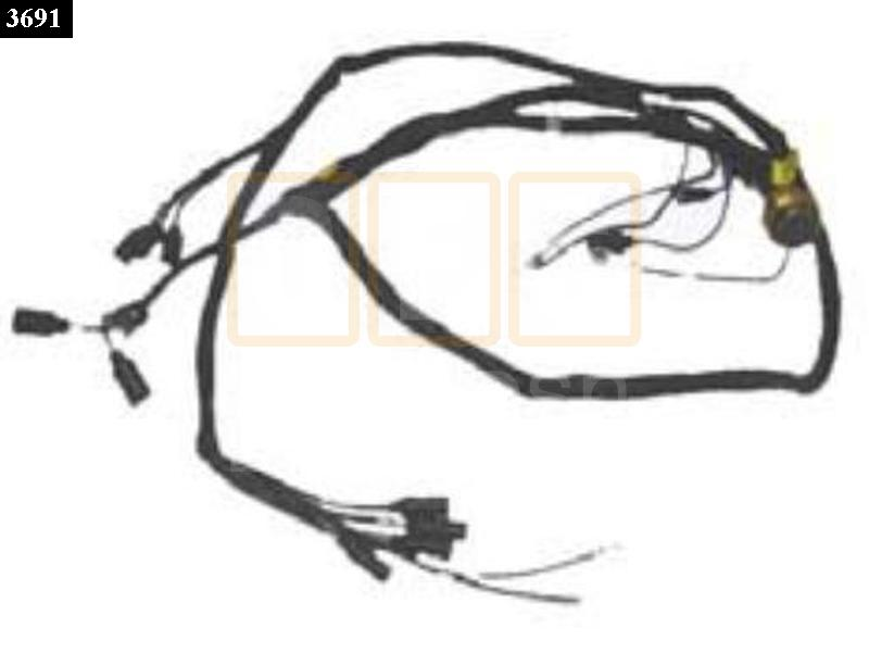 Wiring Harness Branched : Hood wire harness oshkosh equipment