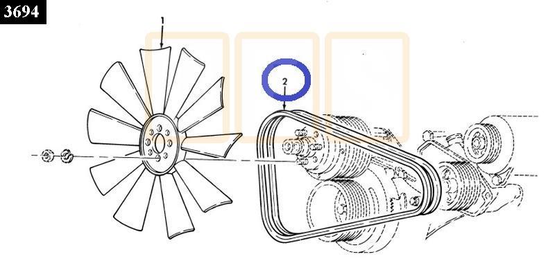Fan Belt - New Replacement