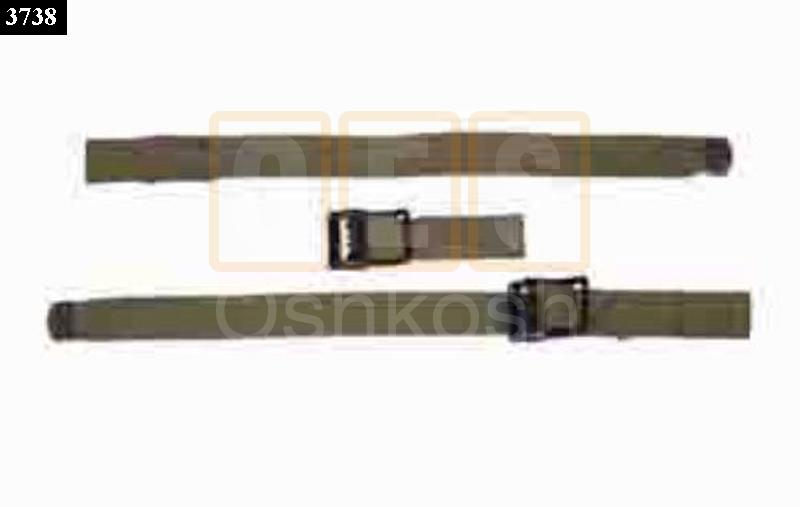 Top bow hold down strap set - New Replacement