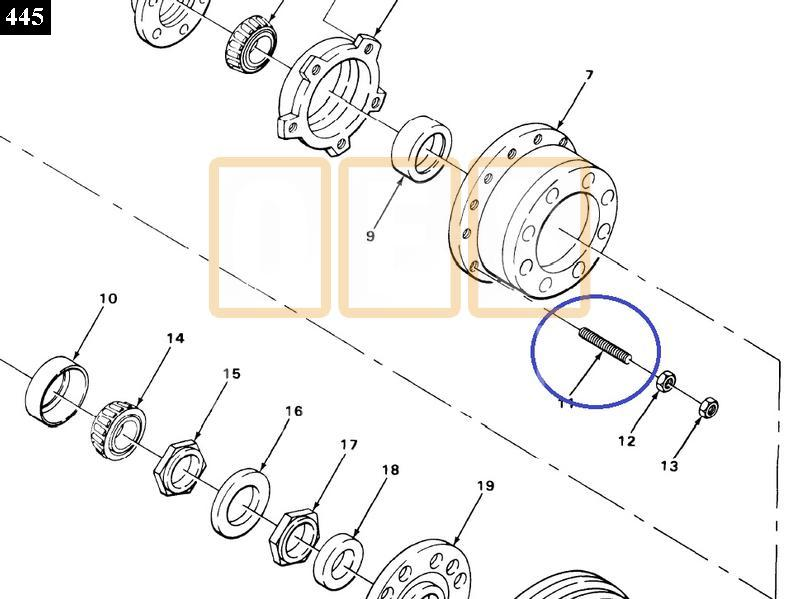 Wheel Stud (RH) - New Replacement