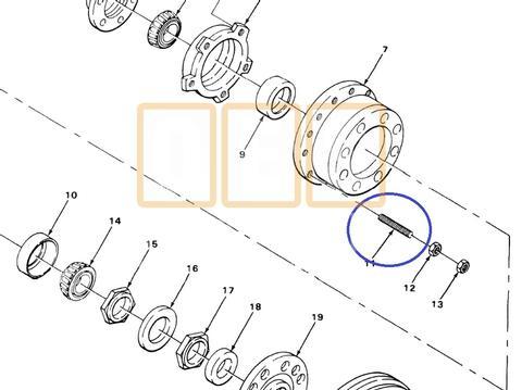 Wheel Stud (RH)