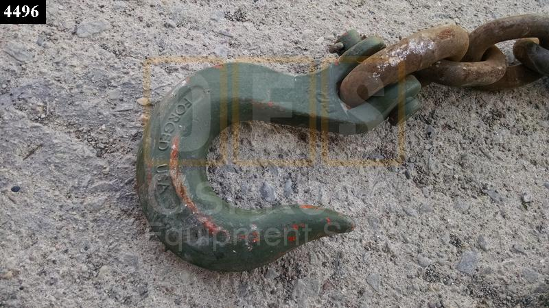 14 FOOT LOGGING / WINCHING / TOWING CHAIN (5/8 INCH LINK) - Used Serviceable