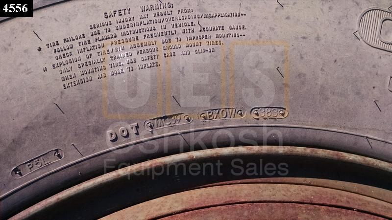 11.00R24 Goodyear G286 Tire on Wheel - New Replacement