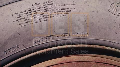 11.00R24 Goodyear G286 Tire on Wheel