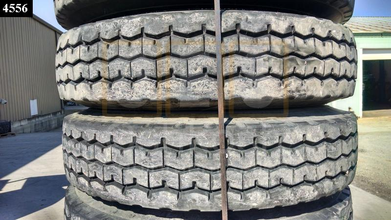 11.00R24 Goodyear G286 Tire on Wheel - Used Serviceable