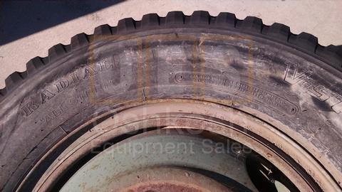 11.00R24 Bridgestone V-Steel MIX 757 Tire on Wheel