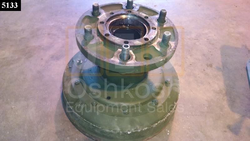 REAR Hub and Brake Drum assembly M35A3 LH WITH CTIS - Used Serviceable