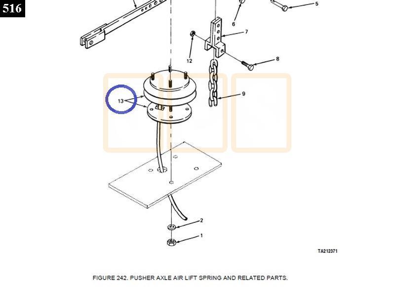 drop axle lift air bag