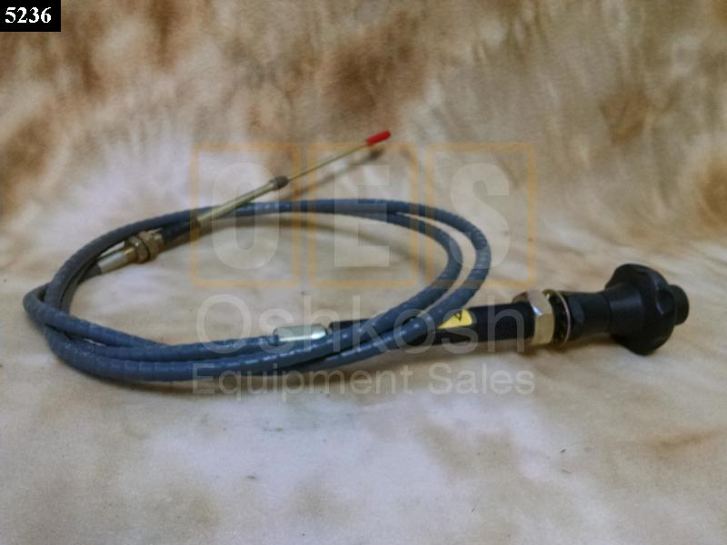 Throttle Cable (Governor Manual Control) - New Replacement