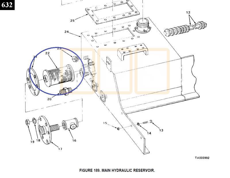 hydraulic resevoir filter element