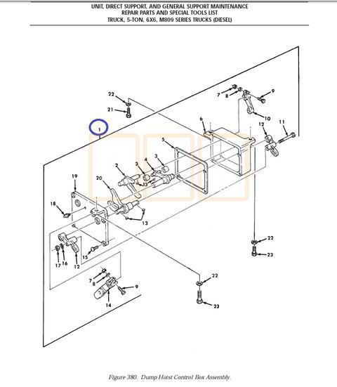 Dump Hoist Control Box Assembly