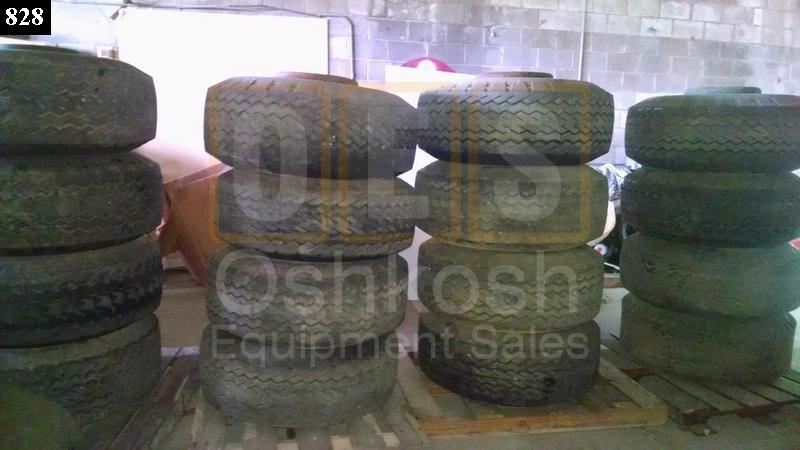 15-19.5 Firestone Transport Duplex Tire on M747 Trailer Wheel - Used Serviceable