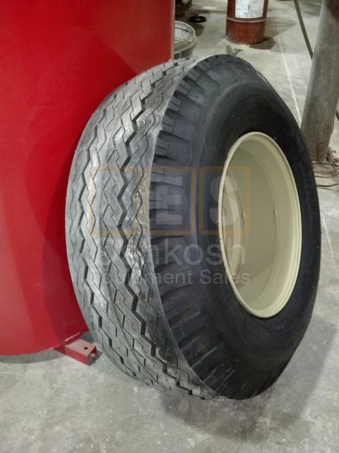15-19.5 Firestone Transport Duplex Tire on M747 Trailer Wheel