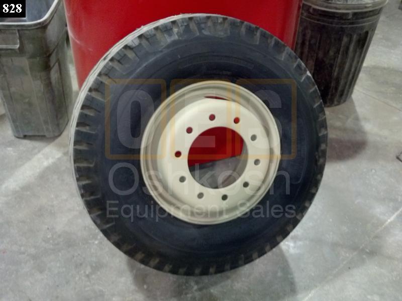 15-19.5 Firestone Transport Duplex Tire on M747 Trailer Wheel - NOS