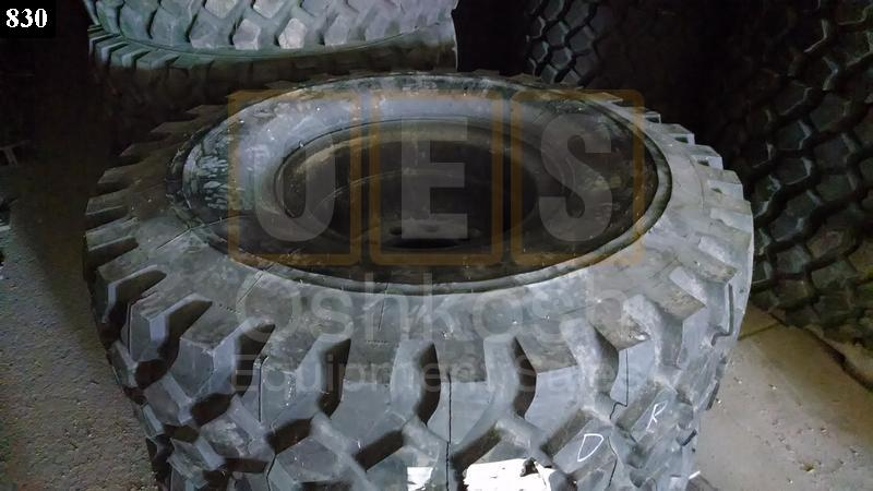 16.00R20 Michelin XZL Tire on Wheel 90% (drive) - Used Serviceable