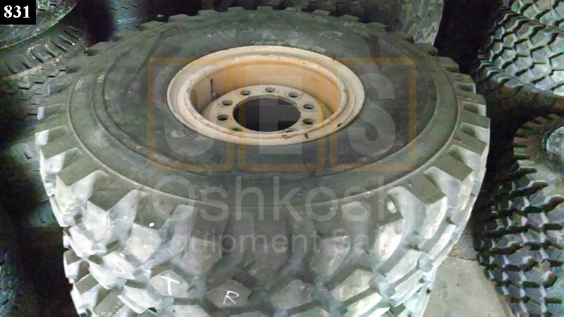 16.00R20 Michelin XZL Tire on Wheel 90%+ (steer) - Used Serviceable