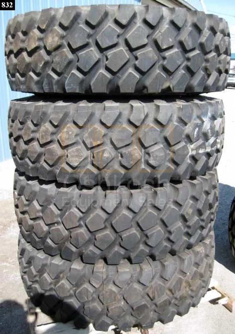 16.00R20 Goodyear or Michelin XZL Tire on HEMTT Wheel - Used Serviceable