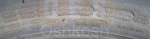 16.00R20 Goodyear or Michelin XZL Tire on HEMTT Wheel