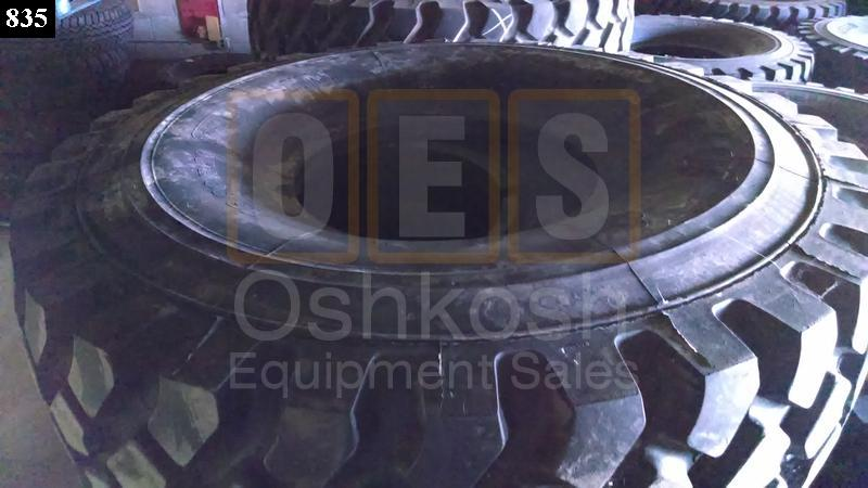 16.00R20 Michelin XZL Tire with Bead Lock / Run Flat - Used Serviceable