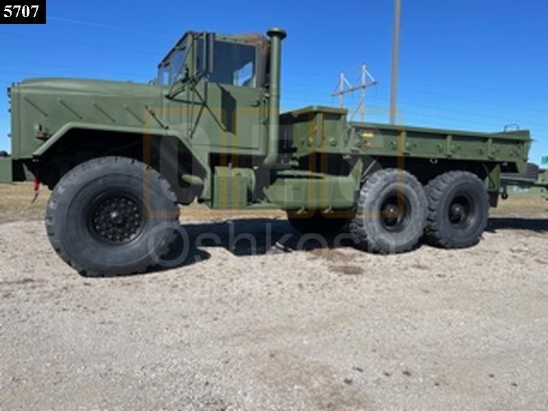 M923A1 5 Ton 6x6 Military Cargo Truck with available 20' Beaver Tail Trailer with Ramps (C-200-132) - New Replacement