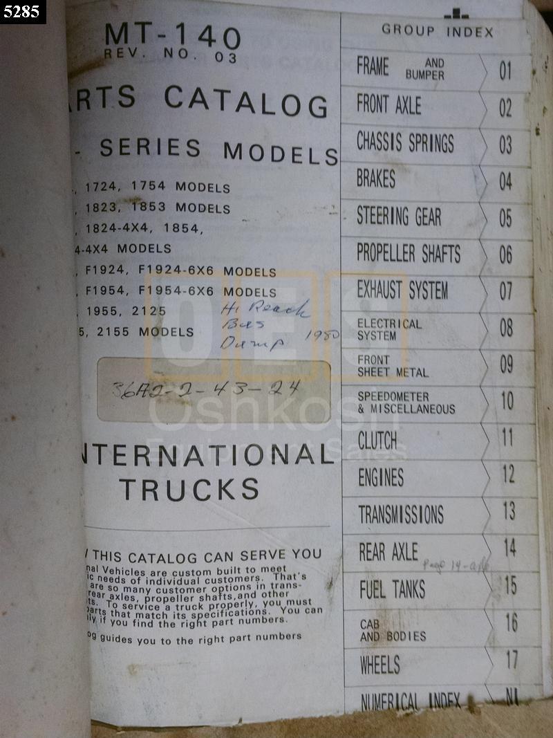International Truck Model 1210 Technical Manual Oshkosh